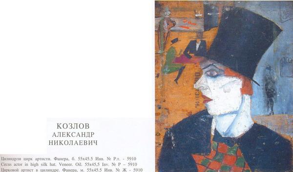Kozlov A.N.- Circus actor in high silk hat.