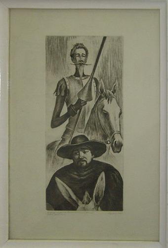 R.Azikhanov. Don Kihot and Sancho Pansa