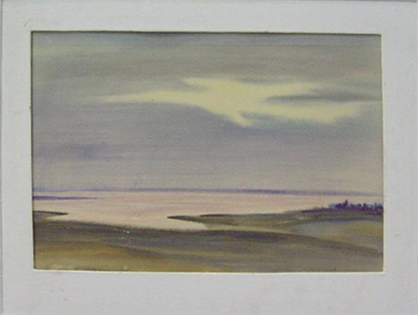 Sunset on the Reservoir Kattakurgan. 1985