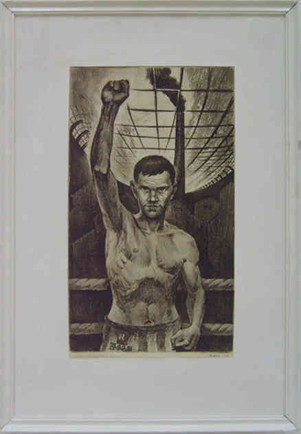 Triptych. Boxers of Tashkent. Andrey Borzenko.1977