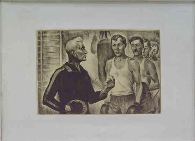 Triptych. Boxers of Tashkent. Sydney Jackson.1977