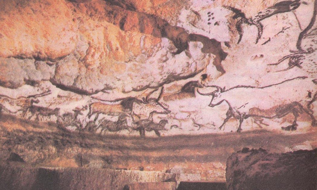 """Потолок пещеры Альтамира """"Бизоны"""".Верхний полиолит."""