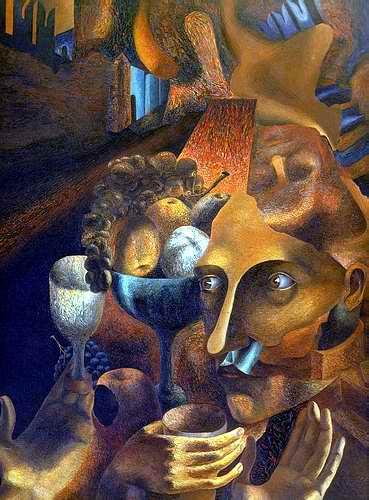 «Три времени» Холст, масло, 1986 г., 80х60 см.