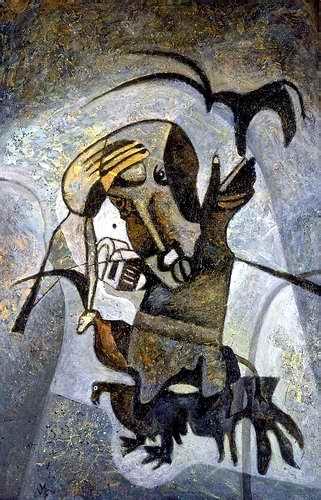 """Balance of gesture"" Canvas, oil, in collection of National Bank of Uzbekistan, Tashkent"