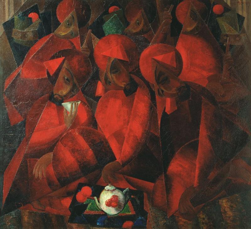 Гранатовая чайхана. Александр Волков. 1924 (ГТГ. Москва, Россия)