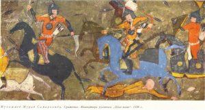Muhammad-Murad-Samarkandi.-Battle-_-Shah-наме-_-1556