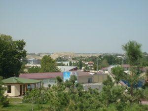 Вид на Афросиаб с хлома Кухак