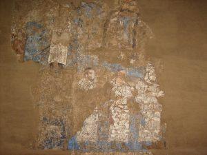 Фрагмент настенной росписи дворца в Афросиаб.Самарканд