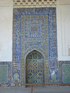 Михраб первой мечети 17в.