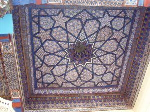 Расписной потолок -1й мечети -1
