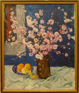 Р.Ахмедов. Цветущие ветки персика. 1995