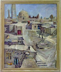 Sayra Keltaeva. Хивинские дворики. 1990