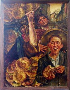 G.I. Silberman, The bread of old Tashkent. 1980