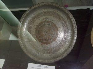 Lali-round tray. 1920-1930-s Bukhara. Master Obloyor.