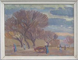 M.I.Kalantarov, Autumn landscape. 1952