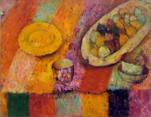 Maksim Vardanyan. Still life with figs.