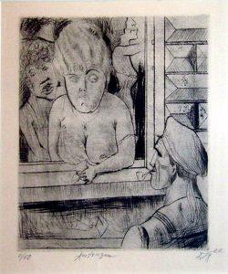 Otto Diks. Antwerp, 1922, etching