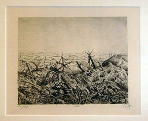 Otto Diks. Near Langemark (February 1918),  1924 etching opus VI