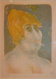 Otto Diks. Procuress , 1923, color lithography