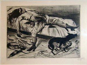 Otto Diks. Sex Murderer, 1922, etching