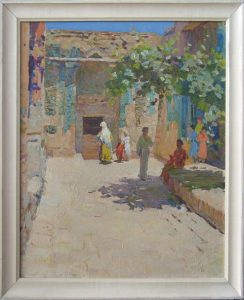 Y.I. Elizarov, The yard of Shakhi-Zinda. 1958