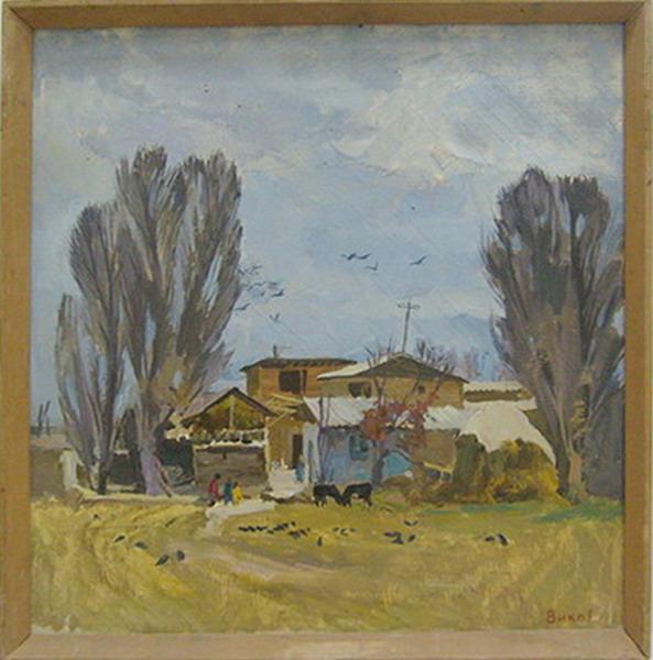 Дворик, Осень. Вико Ренан. (ДХВ) 1979