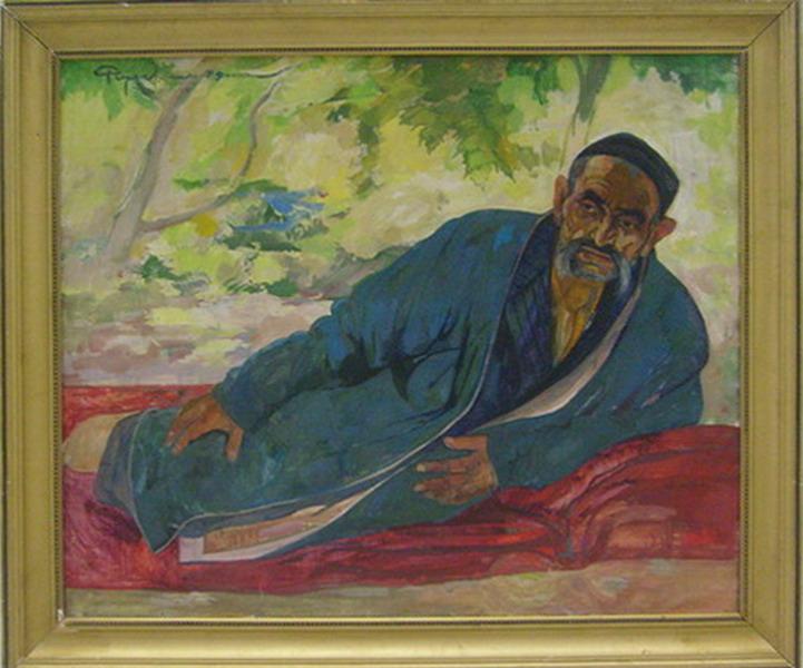 Садовник Сатторов. Розы Чарыев.  (ДХВ). 1979