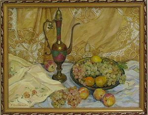 Мордвинцева Г. - Натюрморт с виноградом. 2008