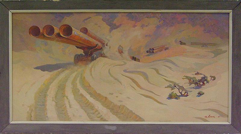 Есин Михаил. Караван уходит в пески. 1967 (ДХВ)