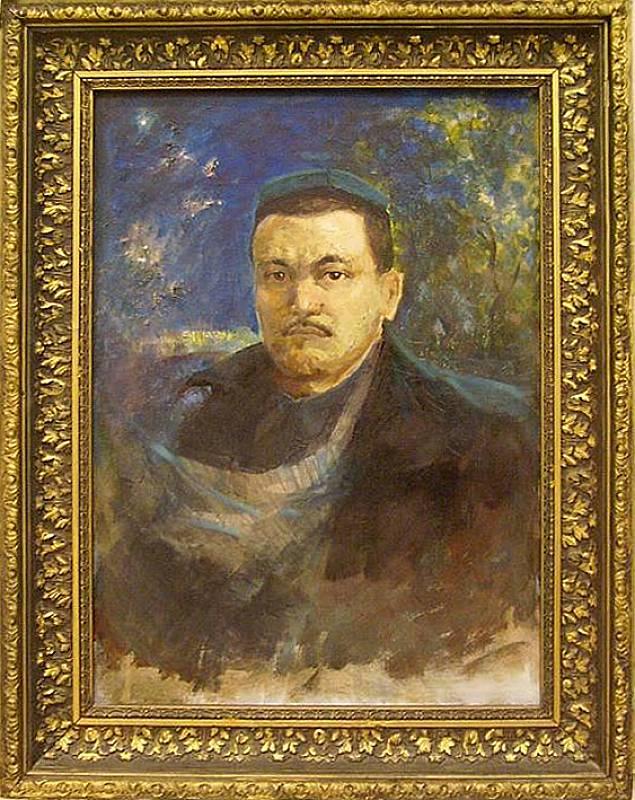 Нигмат Кузыбаев (1929-2004). Портрет писателя Абдуллы Кодири. 1974
