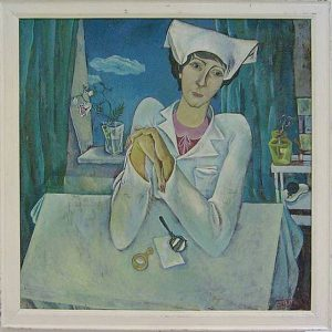 Тохтаев М. Портрет офтальмолога. 1976 (ДХВ)
