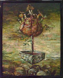 Тохтаев М. Триптих - Затянувшееся путешествие из Гурумсарая . 1988 (ДХВ)