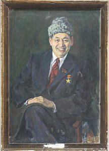 Портрет академика А.С.Садыкова. 1978 (ДХВ)