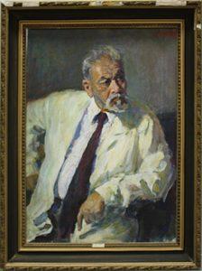 Портрет академика Малик Набиева.1988. (ДХВ)