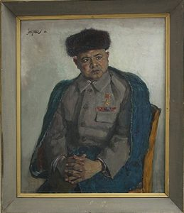 Портрет председателя колхоза У.Мусаева. 1969 (ДХВ)