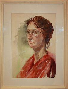 Виктория Трошина. Автопортрет. 1984