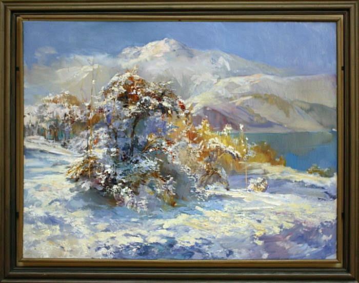 Виктория Трошина. Зима. Чарвак. Солнце. 2012