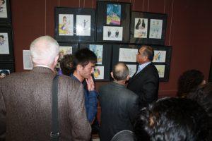 На выставке карикатуры