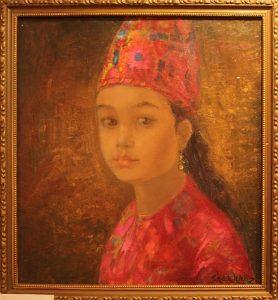 Шахноз Абдуллаева. Девушка в курдской тюбетейке.