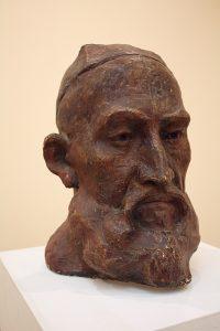 Эсанов Туркман. Портрет Мурона бобо. 1990. Гипс