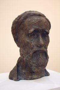 Эсанов Туркман. Портрет Раджаба бобо. 1991 бронза