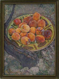 Гадецкий Е. Натюрморт персики Лолы. 1982 (ДХВ)
