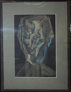 Хусейн Ахвердиев. Серия - Пространство портрета -1. 2013. пастель (Азербаджан)