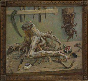 Лысов В. Натюрморт с маской. 1979 (ДХВ)