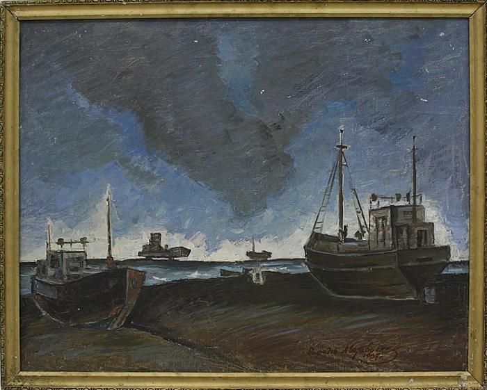 Матевосян Рафаэль. Гроза в песчанной бухте. 1987