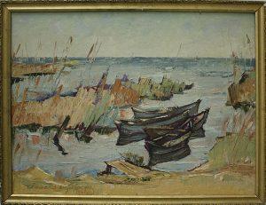 Матевосян Рафаэль. Лодки в камышах. 1962