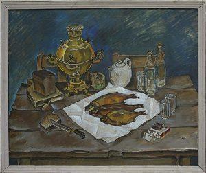 Матевосян Рафаэль. Натюрморт с самоваром. 1978