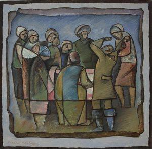Матевосян Рафаэль. Оплакивание. 1990