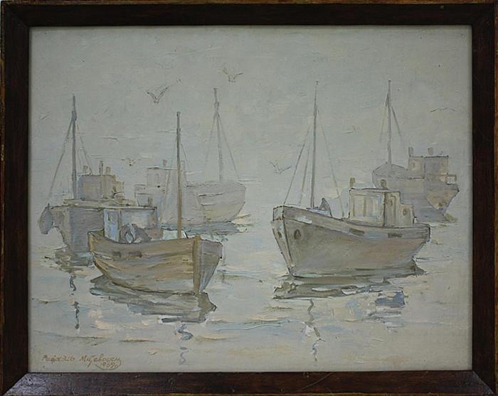 Матевосян Рафаэль. Штиль. туманное утро. 1967
