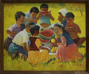 Рахманов Х. Дети . 1972(ДХВ)